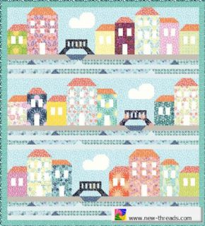 "Moda Grand Canal Quilt Top Kit - by Kate Spain - Finished Size 77"" x 85"" - KIT27255"